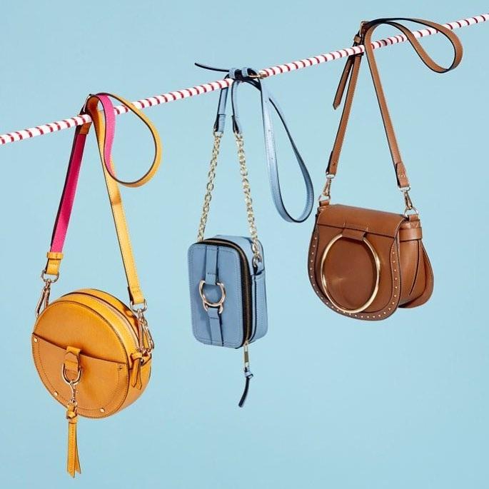 сумки женские желтая голубая коричневая