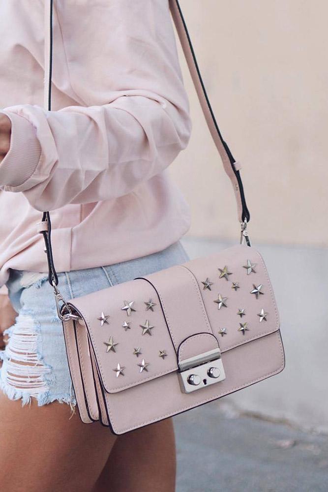 сумки женские розовая