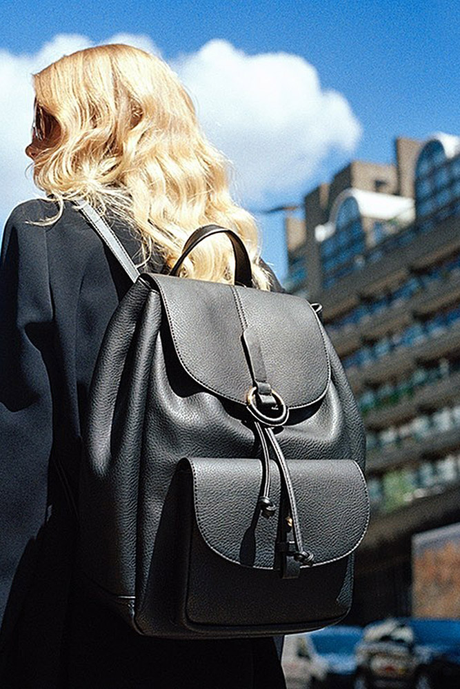 сумки женские рюкзак черный