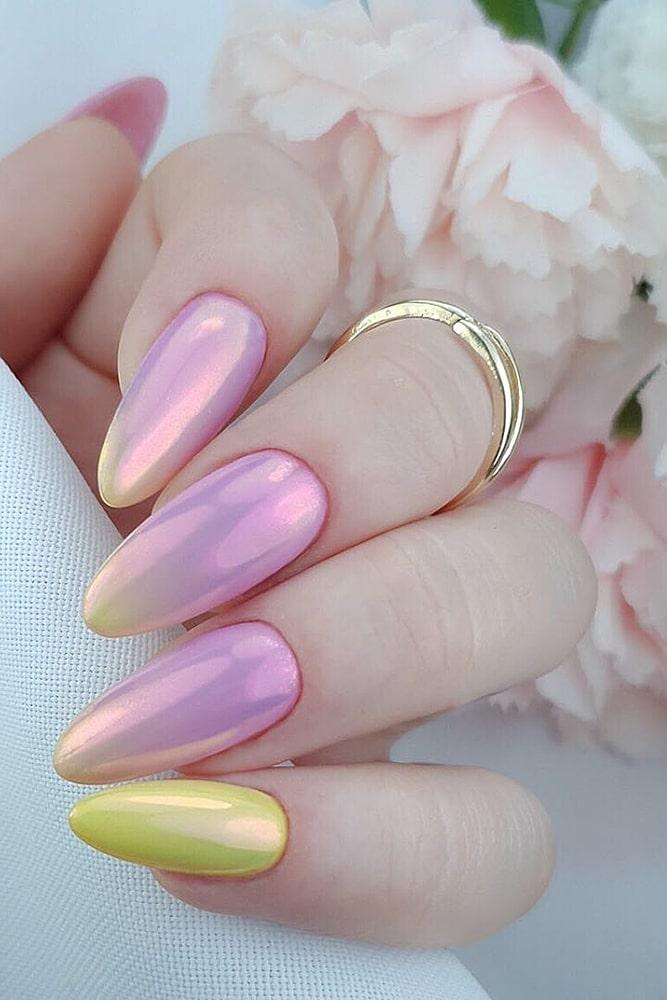 гель лак дизайн розовый градиент