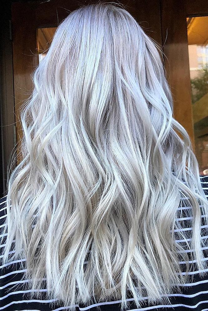 модное окрашивание блонд