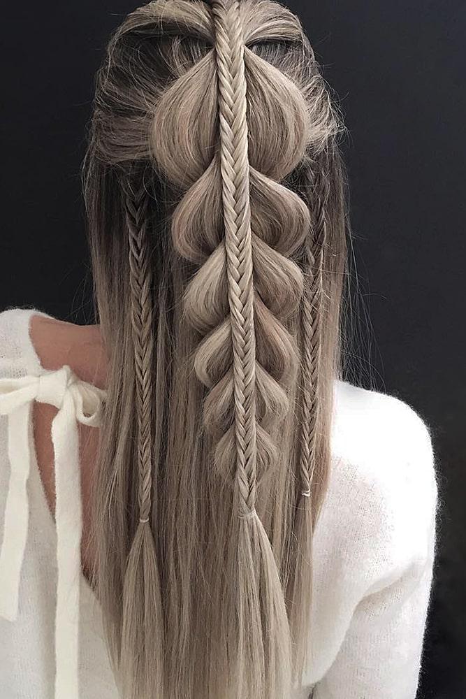 красивые прически коса большая маленькая