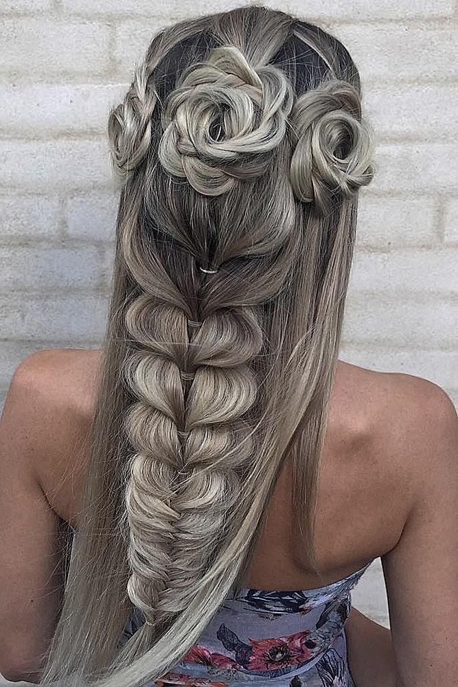 красивые прически коса завитки