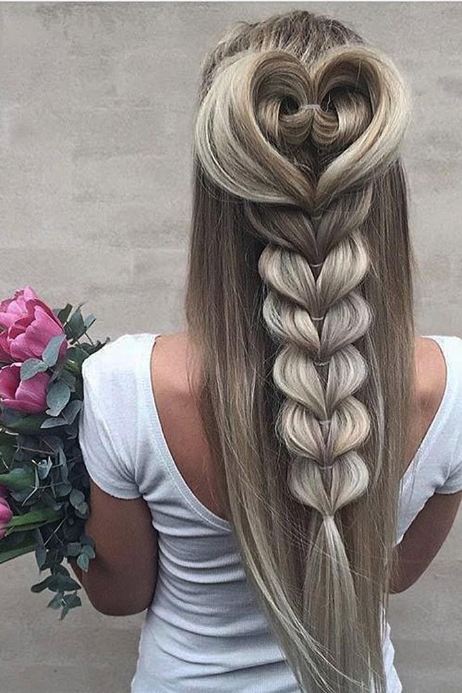 красивые прически коса сердце