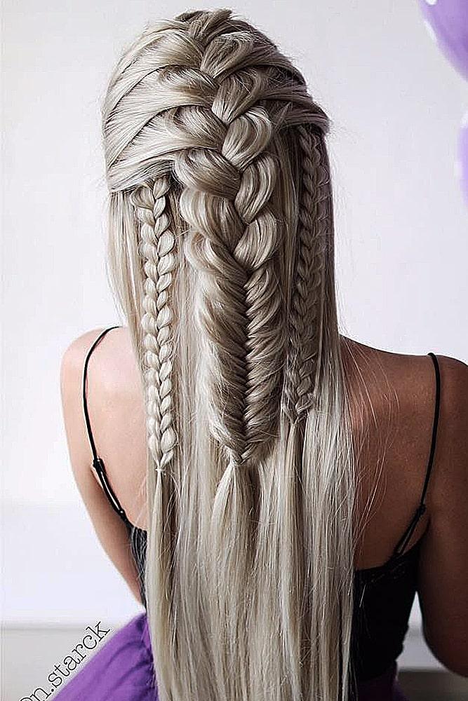 красивые прически косы колосок плетение