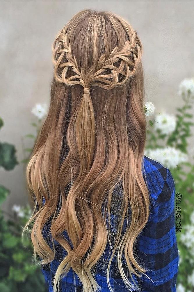 красивые прически мальвинка пряди косы