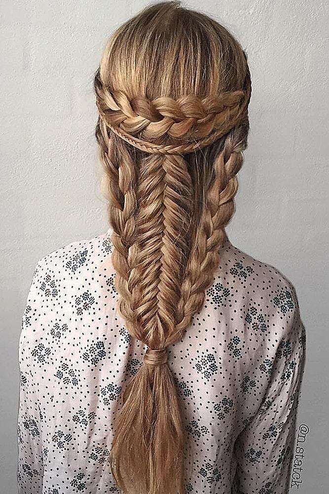 красивые прически много кос