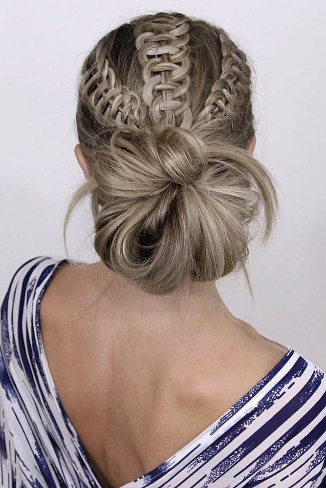 красивые прически пучок косы