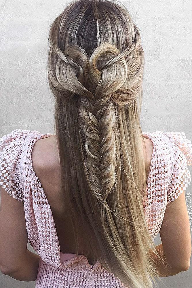 красивые прически сердце коса