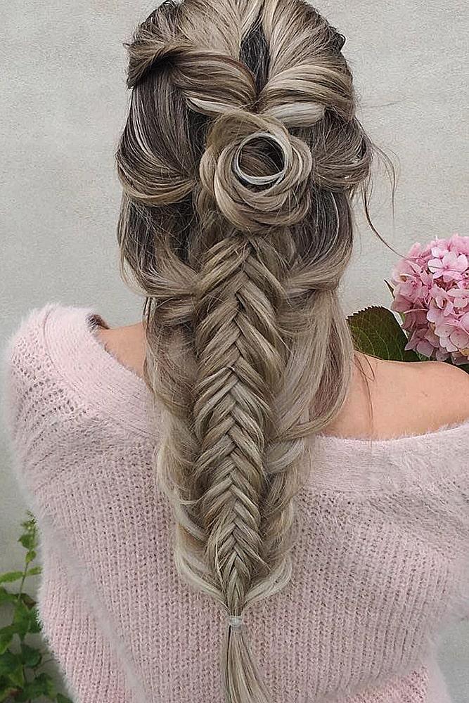 красивые прически сложная коса