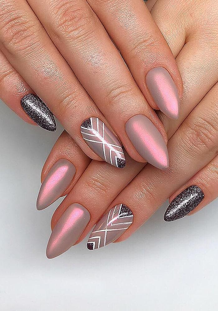 втирка для ногтей втирка розовый абстракция
