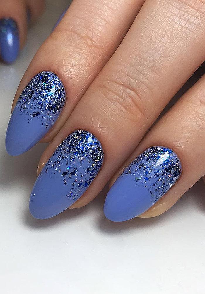 втирка для ногтей синие блестки