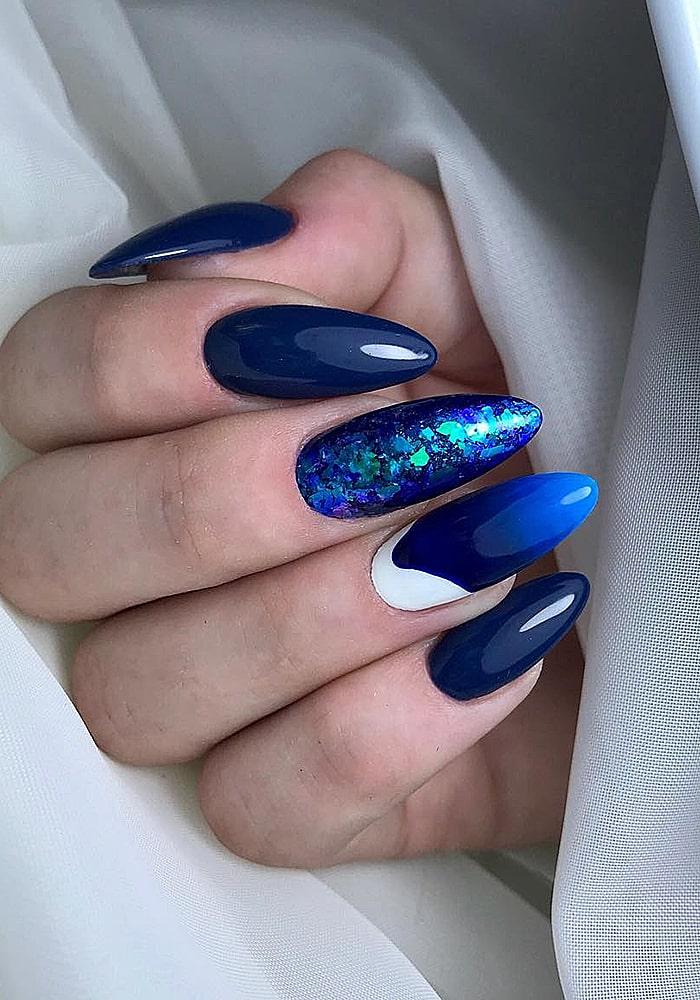 втирка для ногтей синий втирка