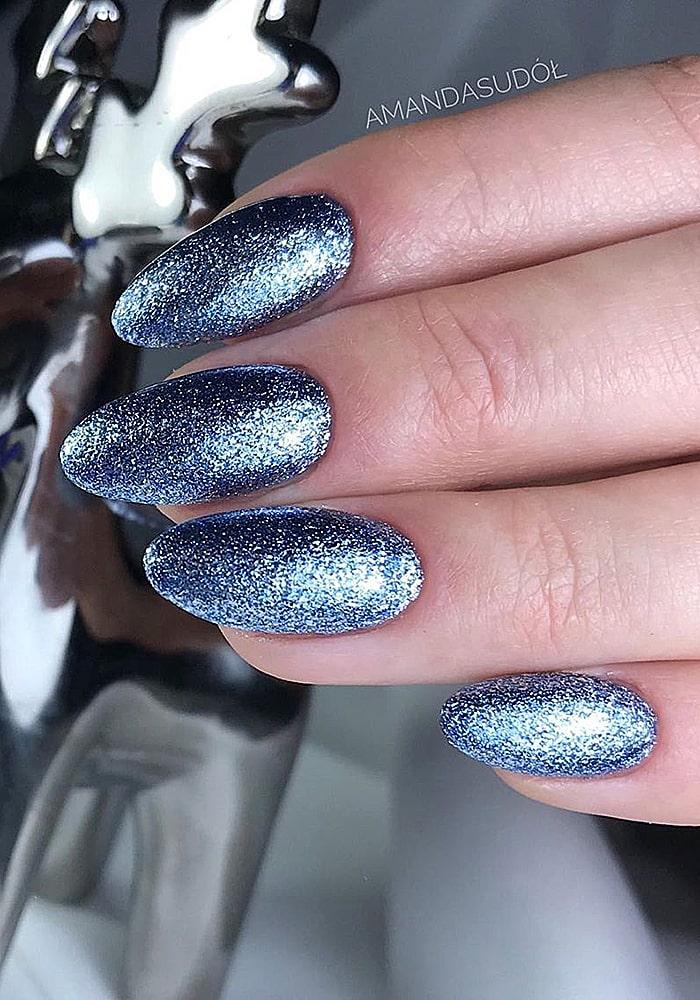 втирка для ногтей синяя втирка