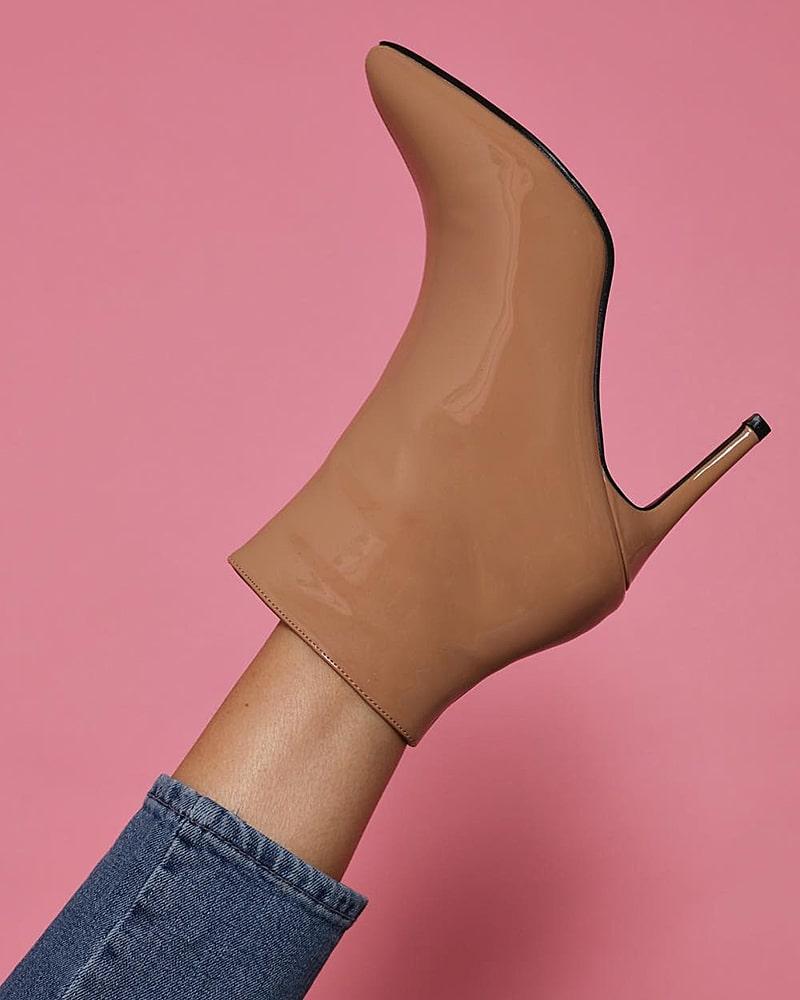 модная обувь ботинки бежевые
