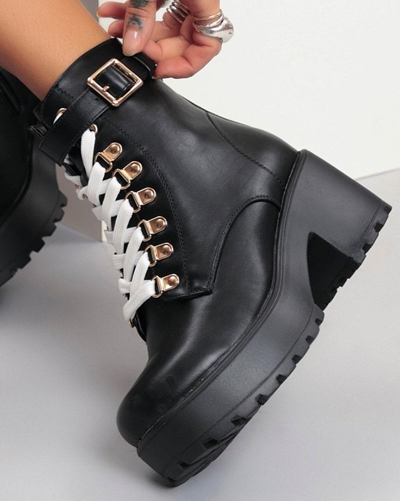 модная обувь ботинки белые шнурки