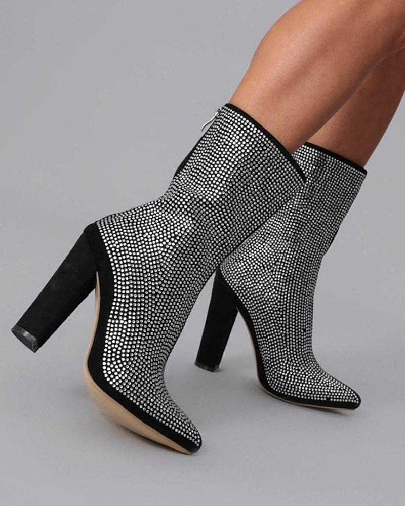 модная обувь ботинки глитер