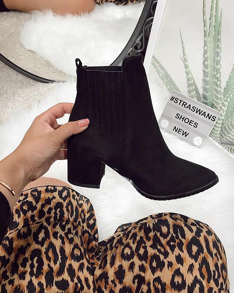 модная обувь ботинки замшевые