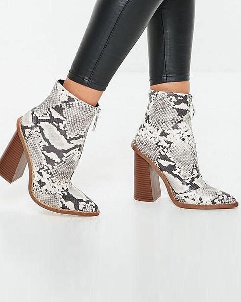 модная обувь ботинки змея