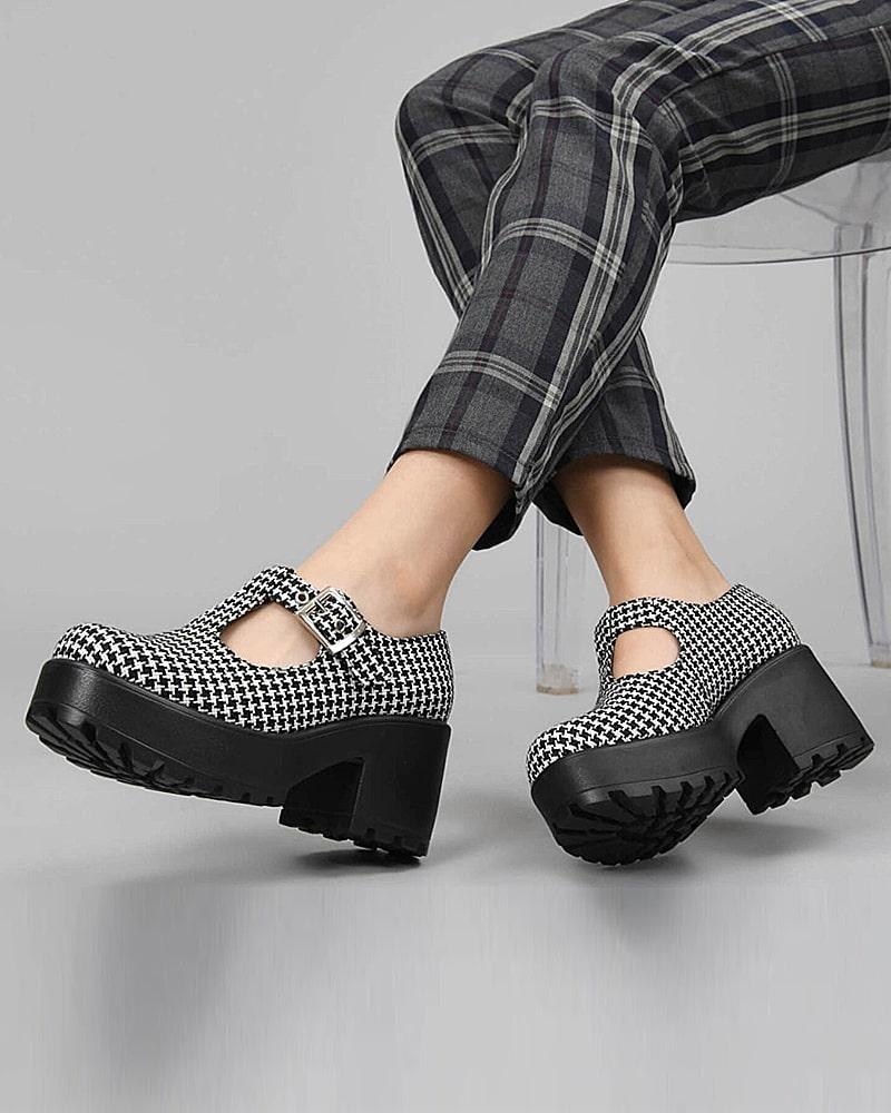 модная обувь ботинки клетка