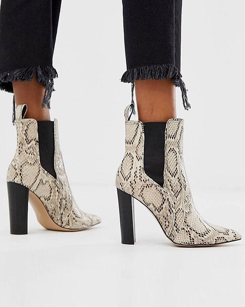 модная обувь ботинки питон
