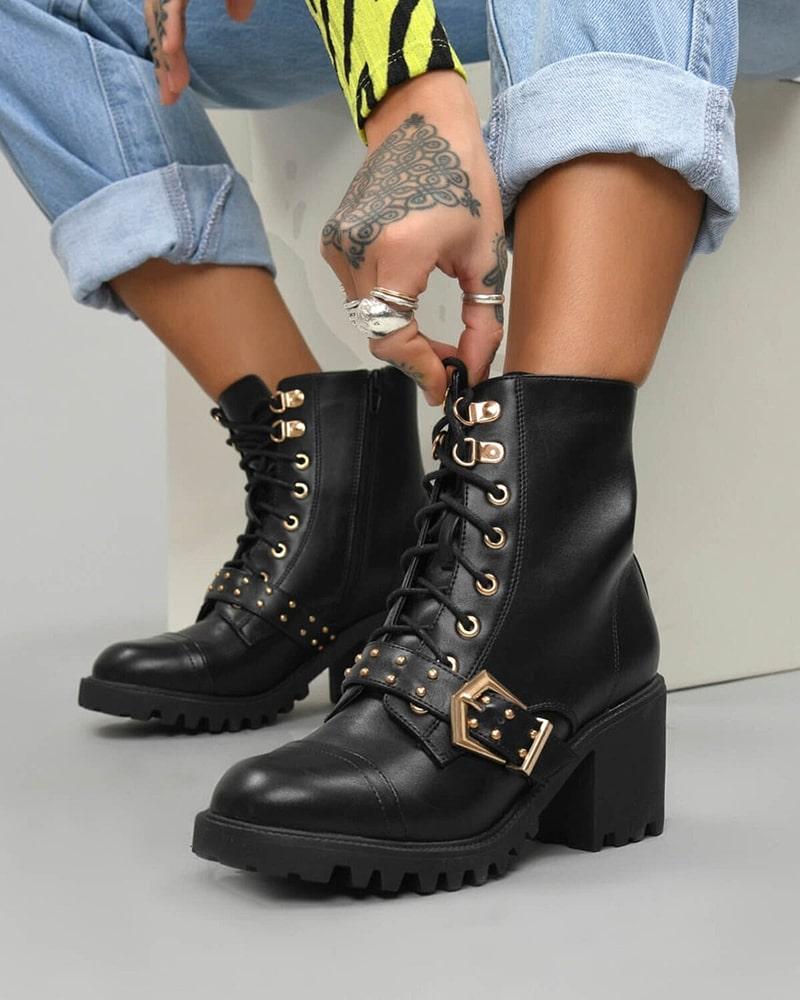 модная обувь ботинки пряжка