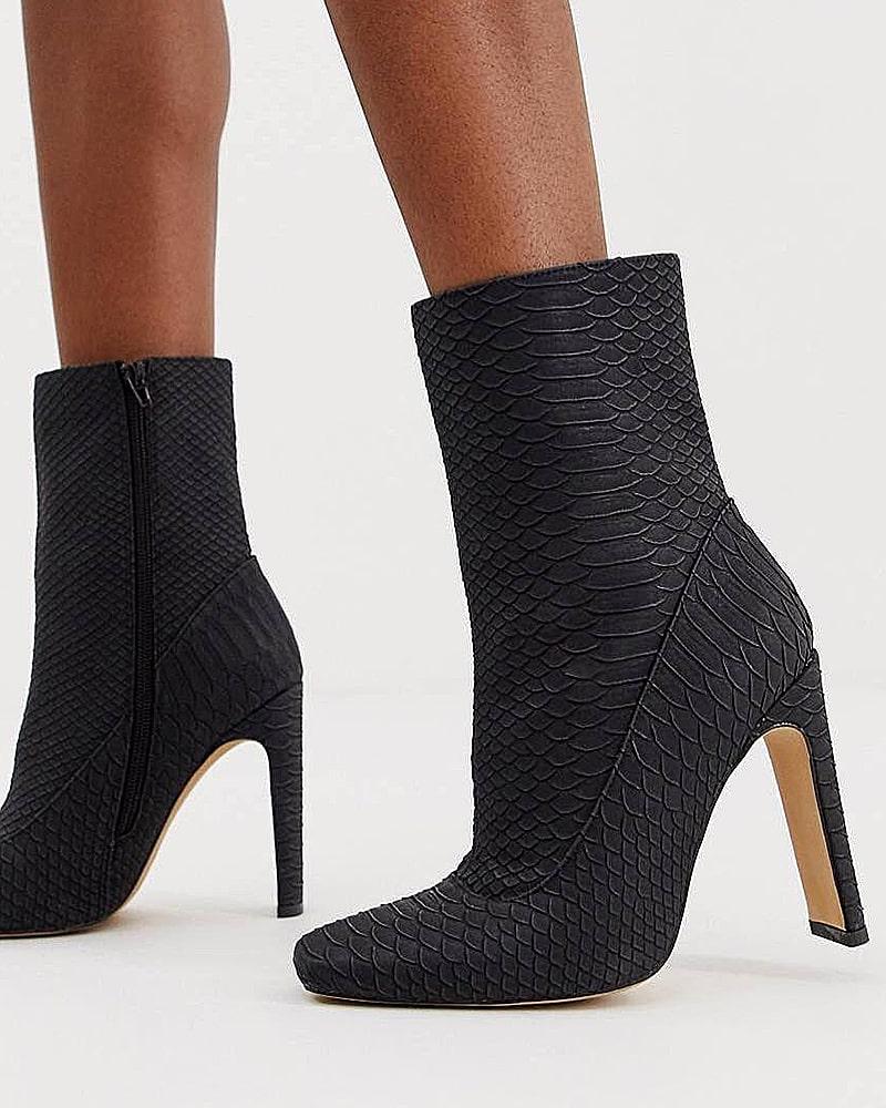 модная обувь ботинки рептилия