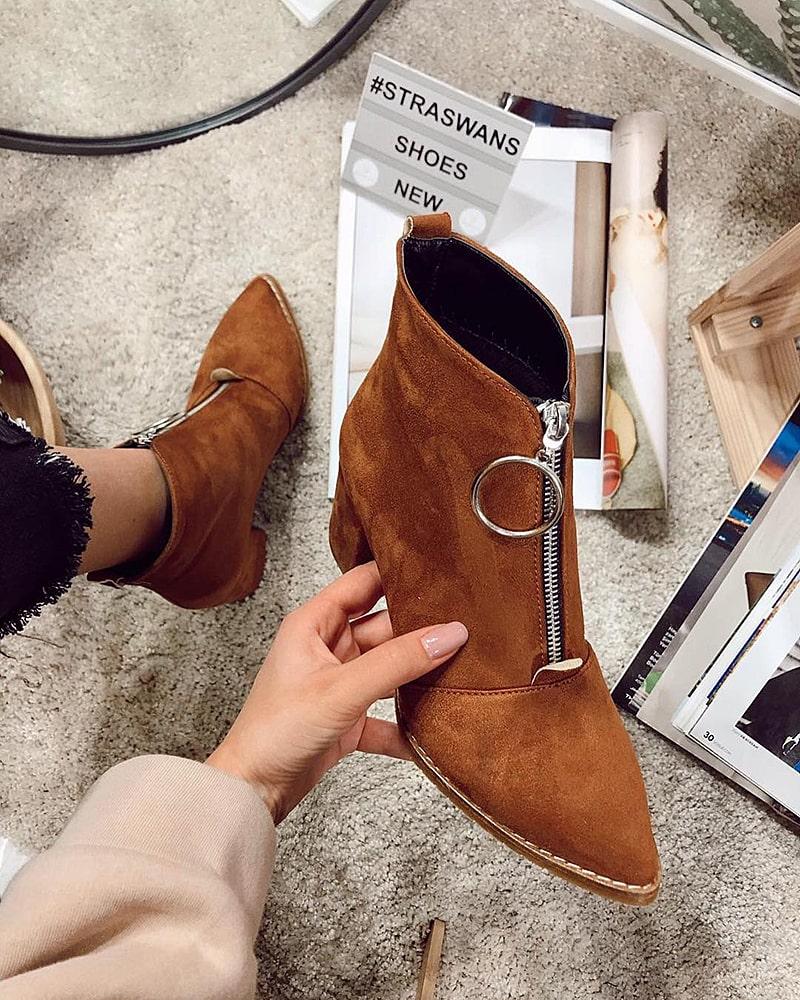модная обувь ботинки рыжие