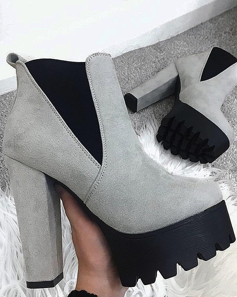 модная обувь ботинки серые платформа