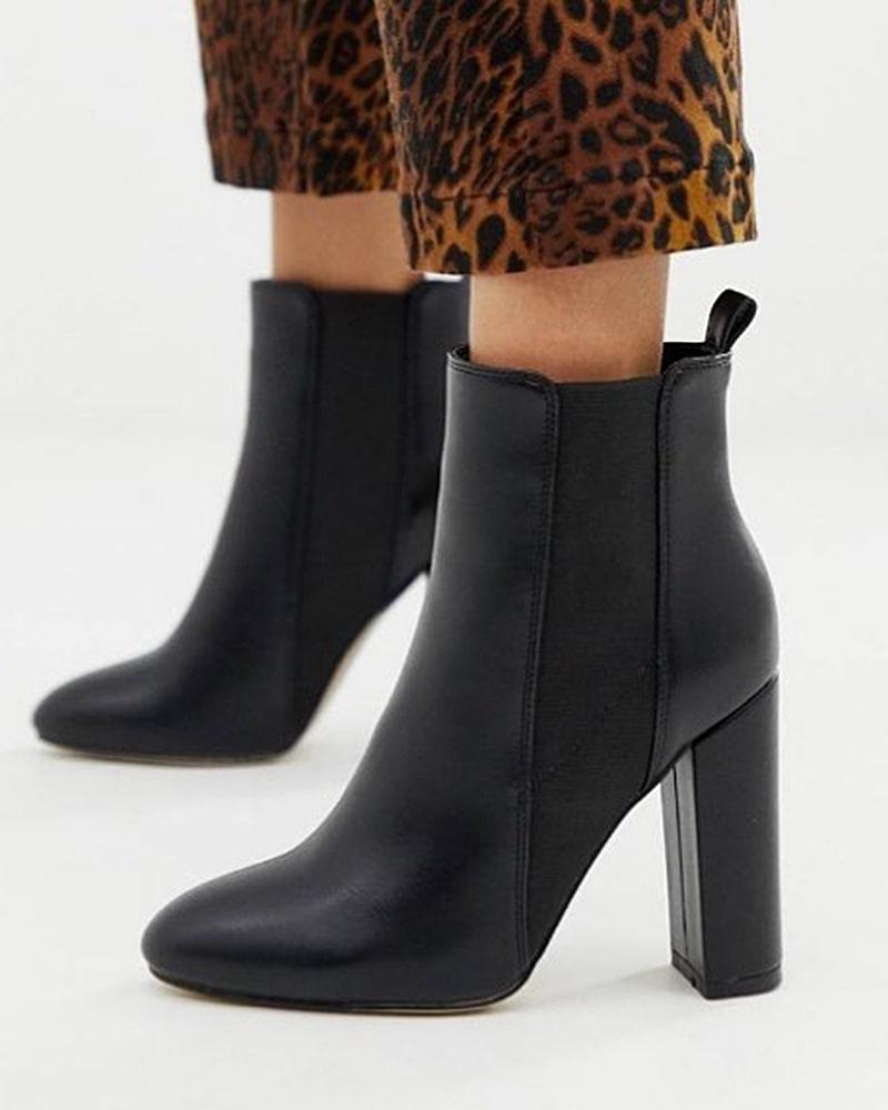 модная обувь ботинки черные