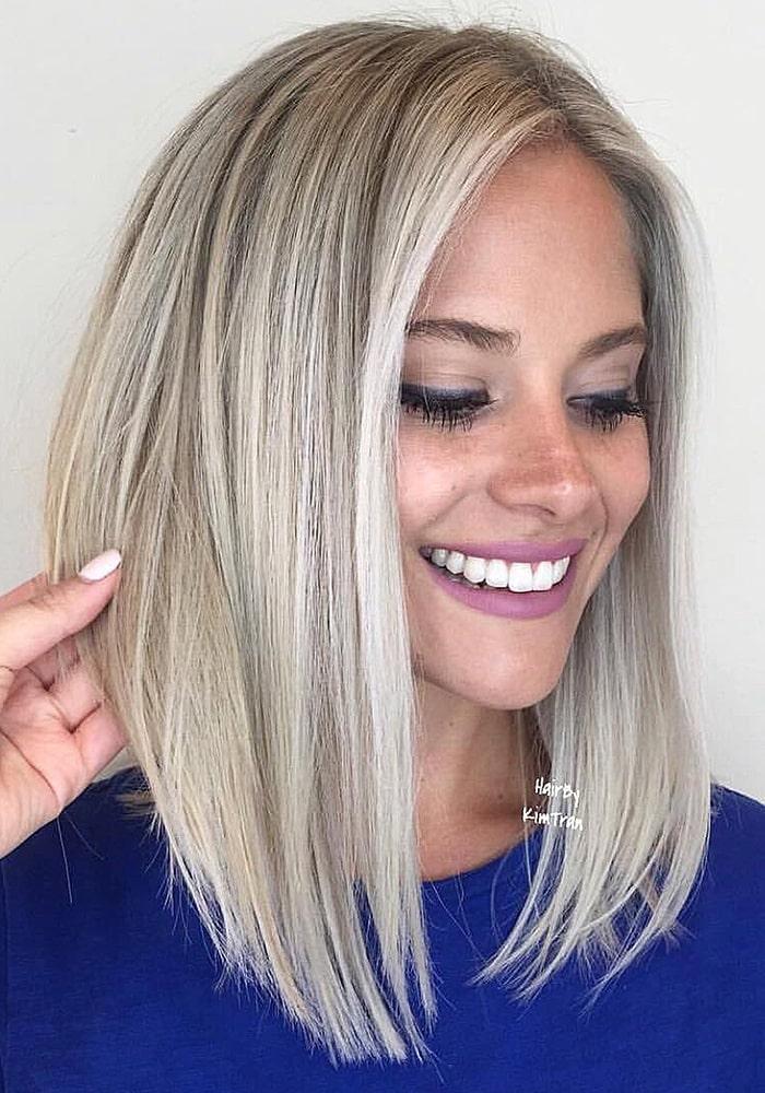 стрижки на средние волосы длинное каре