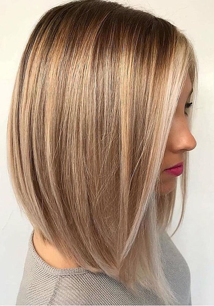 стрижки на средние волосы каре натуральный блондин