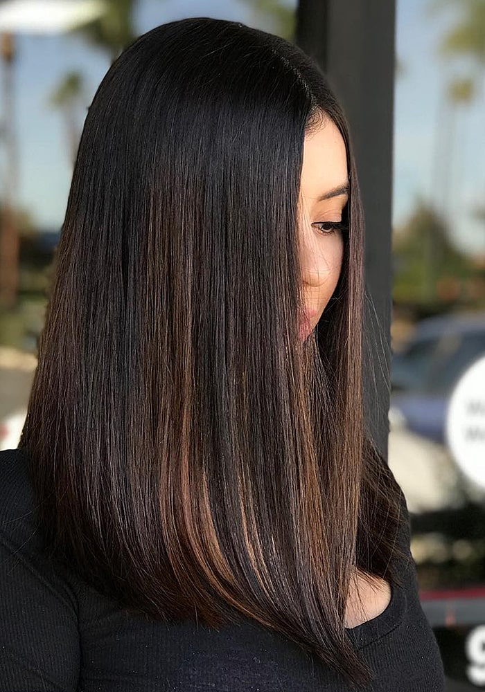 стрижки на средние волосы шатенка состояние после