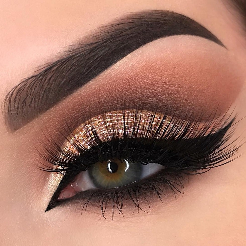 макияж глаз бронза