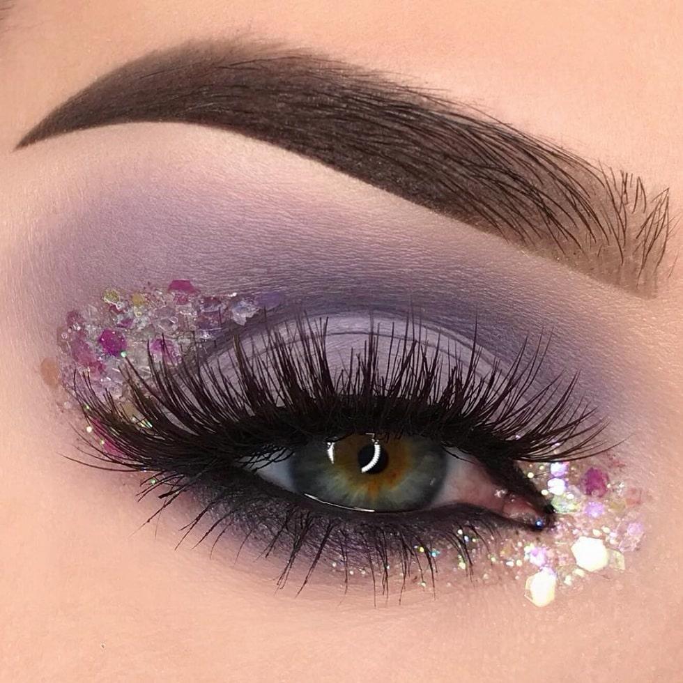 макияж глаз дымка