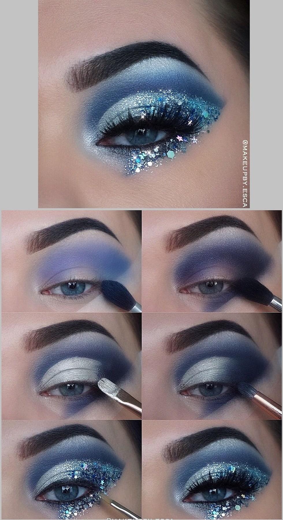 макияж глаз звезды