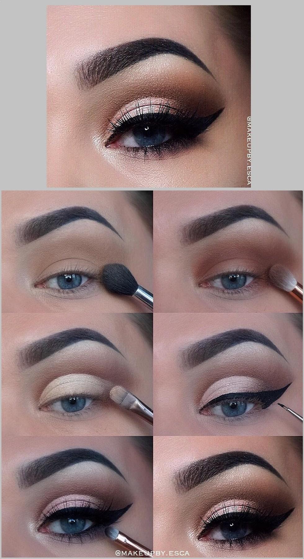макияж глаз опал