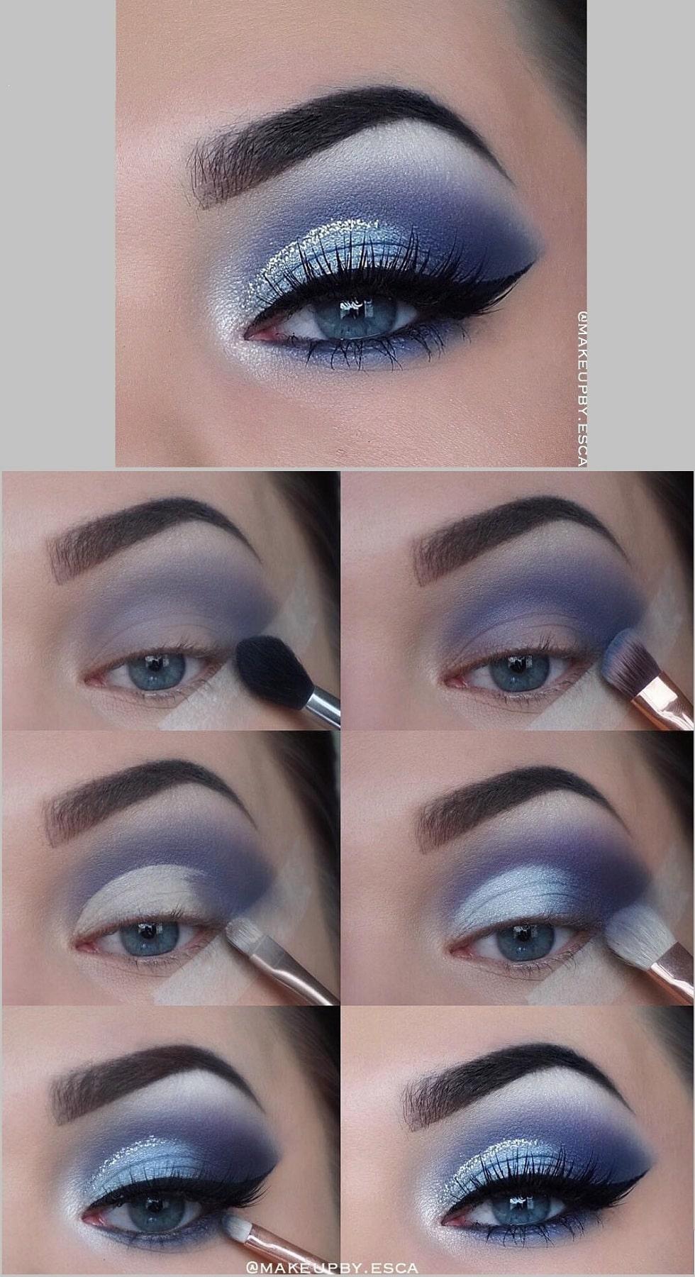 макияж глаз фиолет