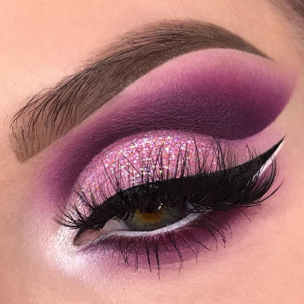 макияж глаз фуксия