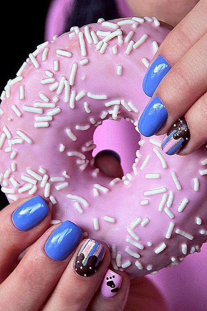 модный маникюр пончик