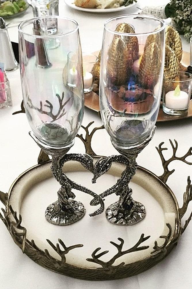игра престолов свадьба бокалы банкет декор