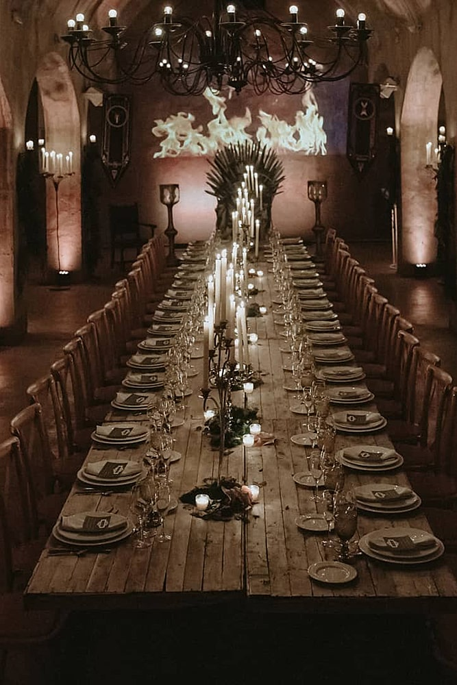 игра престолов свадьба декор зал банкет