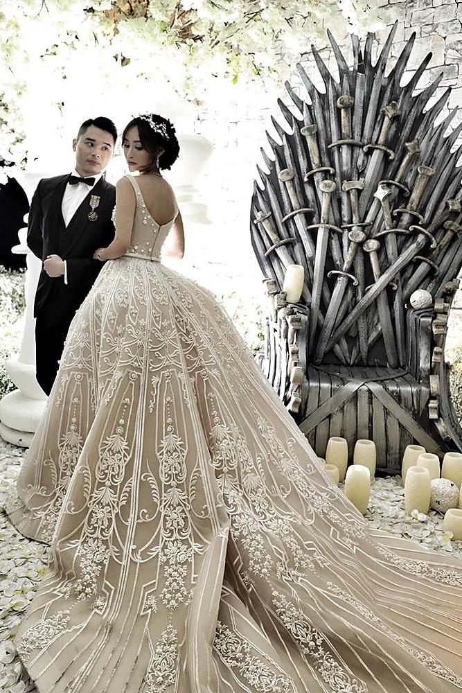 игра престолов свадьба молодожены декор