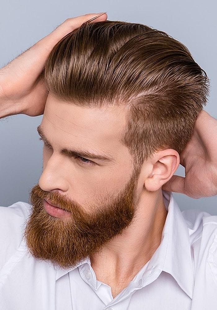 форма бороды шатен