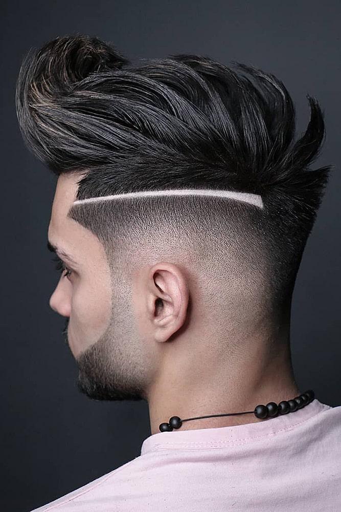 мужские стрижки бритый висок