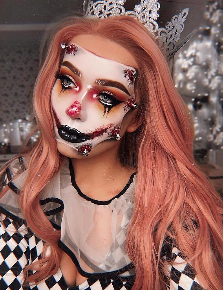 грим на хэллоуин стильный грим