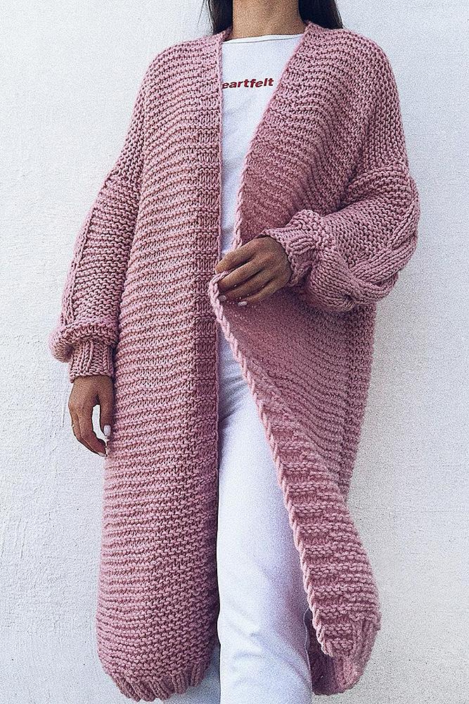 кардиган розовый вязаный кардиган