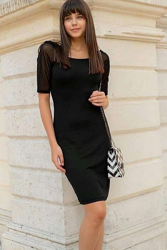 коктейльные платья черное классика