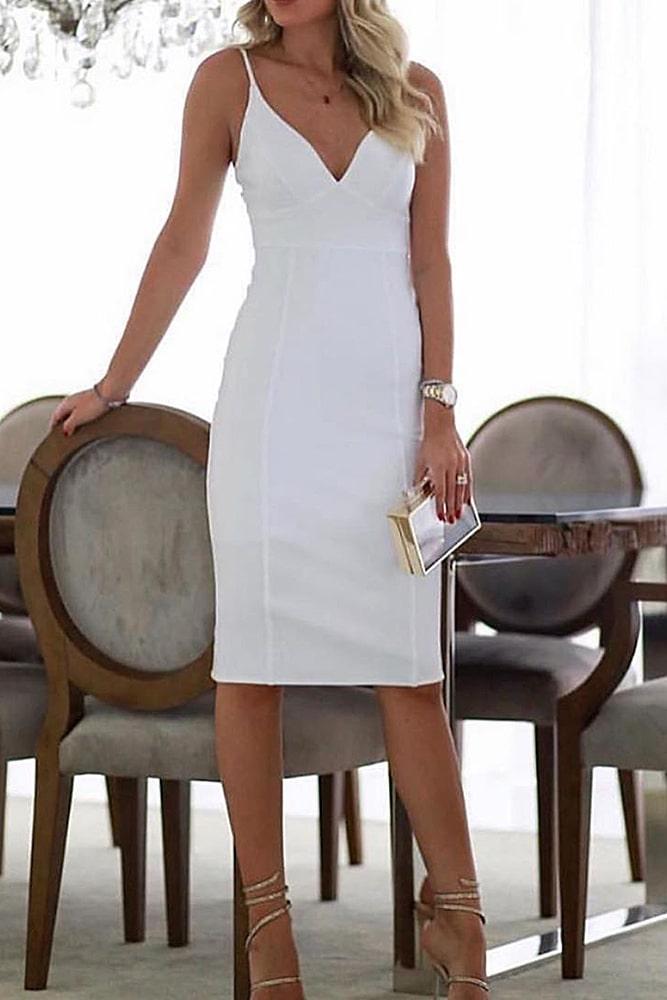 коктейльные платья белая классика