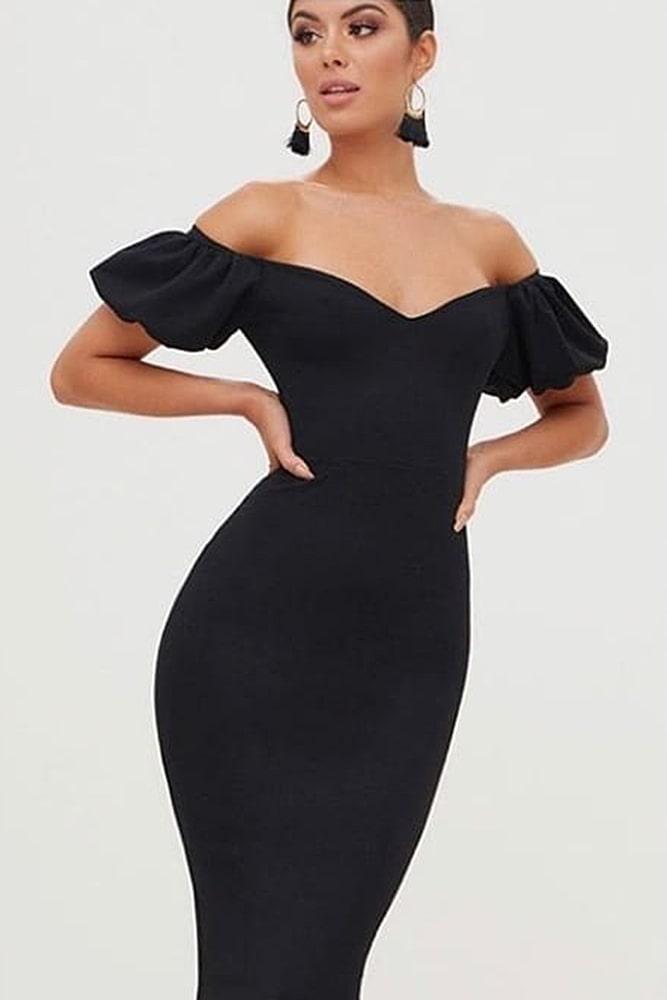 коктейльные платья черное